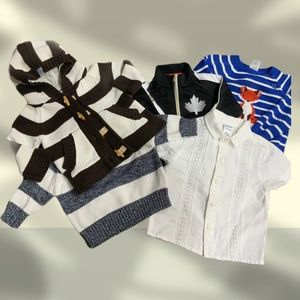 GROUP OF SWEATERS AND SHIRT NEWBORN TO TODDLER